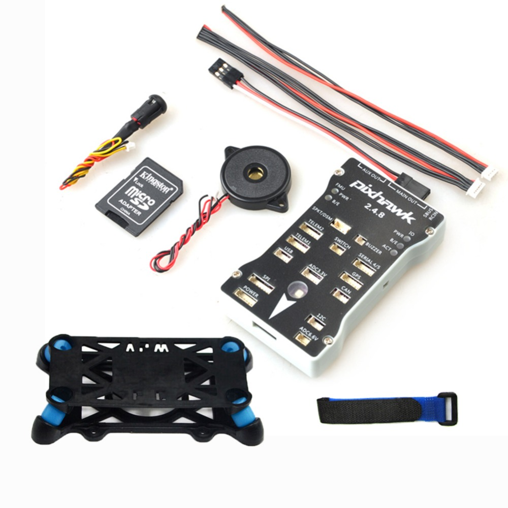 Pixhawk PX4 Autopilot PIX 2.4.8 Flight Controller 32 Bit PX4IO Combo With Safety Switch and Buzzer Shock Absorber or 16G Card flight tus 35 or
