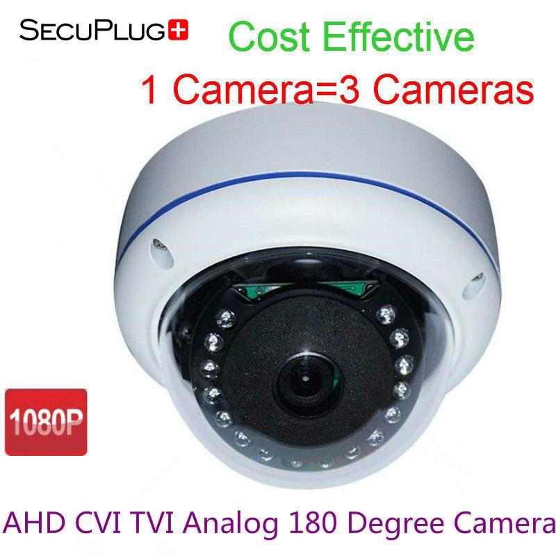 HD 1080P 180 Degree Wide Angle AHD CVI TVI CCTV Camera Mini Dome IR Night Vision new 1 3inch mini lens 1 7 mm ultra wide angle fish eye view for cctv ir hd ahd tvi 1080p wireless network night vision camera
