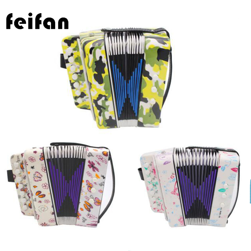 Kids Children 7 Key 2 Bass Musical Instrument Accordion Educational Musical Instrument R ...