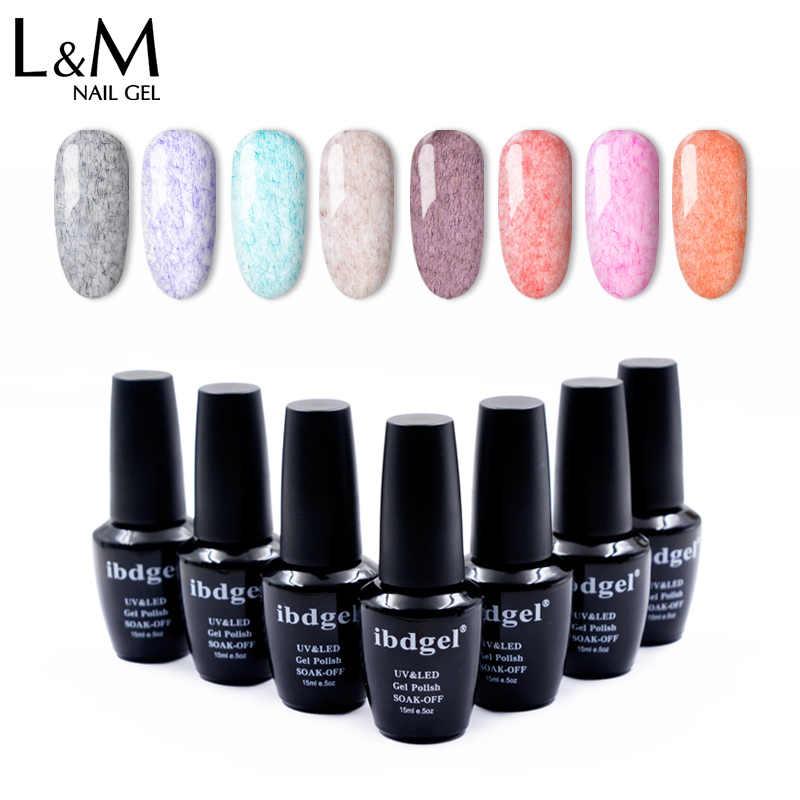3 Buah/Banyak Ibdgel Merek Botol Hitam Leather Series Warna Gel Nail Polish LED Kualitas Tinggi Berbulu UV Rendam Off