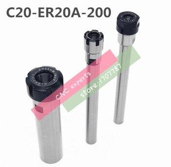 Envío Gratis C20 ER20A 200L Collet Chuck soporte 200mm extensión recta Mango para ER20 Collet con ER20A tuerca