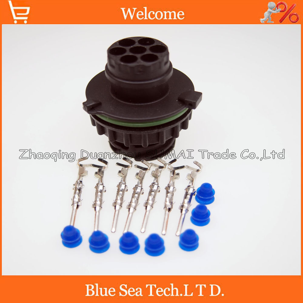 7 Pin 1718230-1 auto male sensor plug for Tyco car,oil exploration,railway etc,waterproof IP67/69,temp resistance