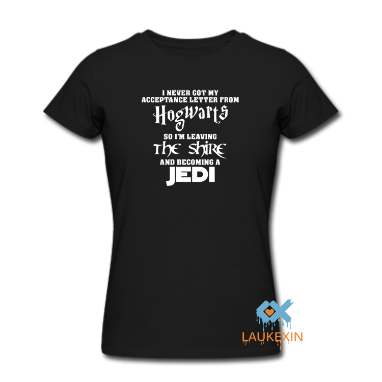 HOGWARTS Lord of the Rings JEDI Star wars The Hobbit funny t-shirt t shirt Print kawaii Graphic Tee Shirt short sleeve women men