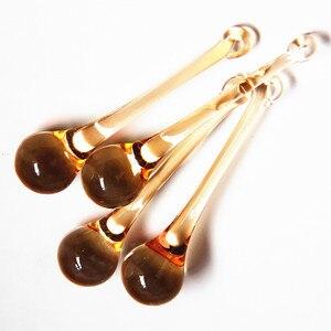 Высококачественные хрустальные подвески в виде капли дождя цвета шампань, 14 шт., 20*80 мм, стеклянные занавески, аксессуары, украшение для дома