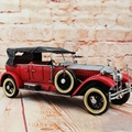 Retro Classic Car Model 100% Handmade Old Iron Sheet Model Rolls Royce 1:12 Retro Metal Dectoration Pub CAFE