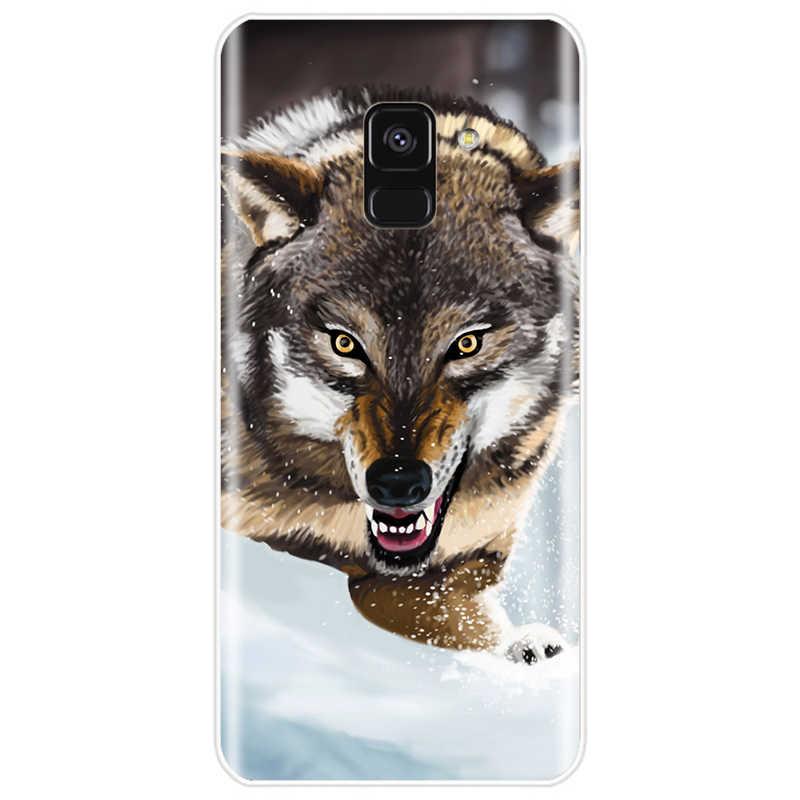 怒っスノーウルフ電話ケース A9 A9PRO A7 A8 A8Plus 2018 A3 A5 A7 2017 A3 A5 a6 2016 A3 A5 A7 2015 カバー