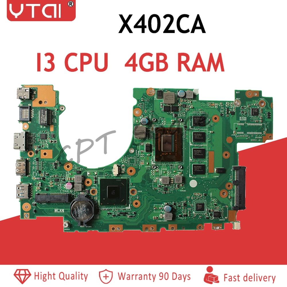X402CA Motherboard i3 3217U 4GB RAM REV 2 1 For ASUS X502C X402C F402C Laptop motherboard
