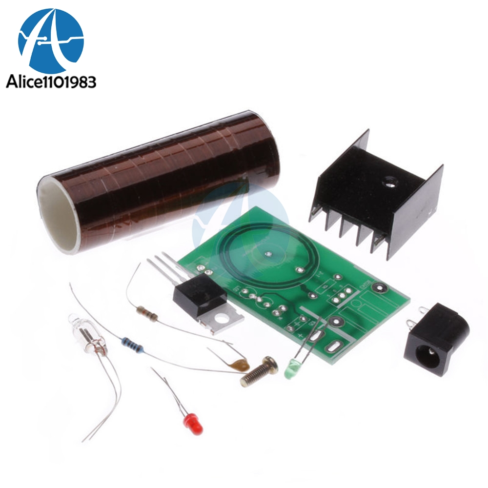 Mini Tesla Coil DIY Kit Arc Wireless Electric Power <font><b>Board</b></font> Transmission Lighting Module <font><b>12V</b></font> DC for <font><b>LED</b></font> <font><b>Circuits</b></font> Suites Learning image