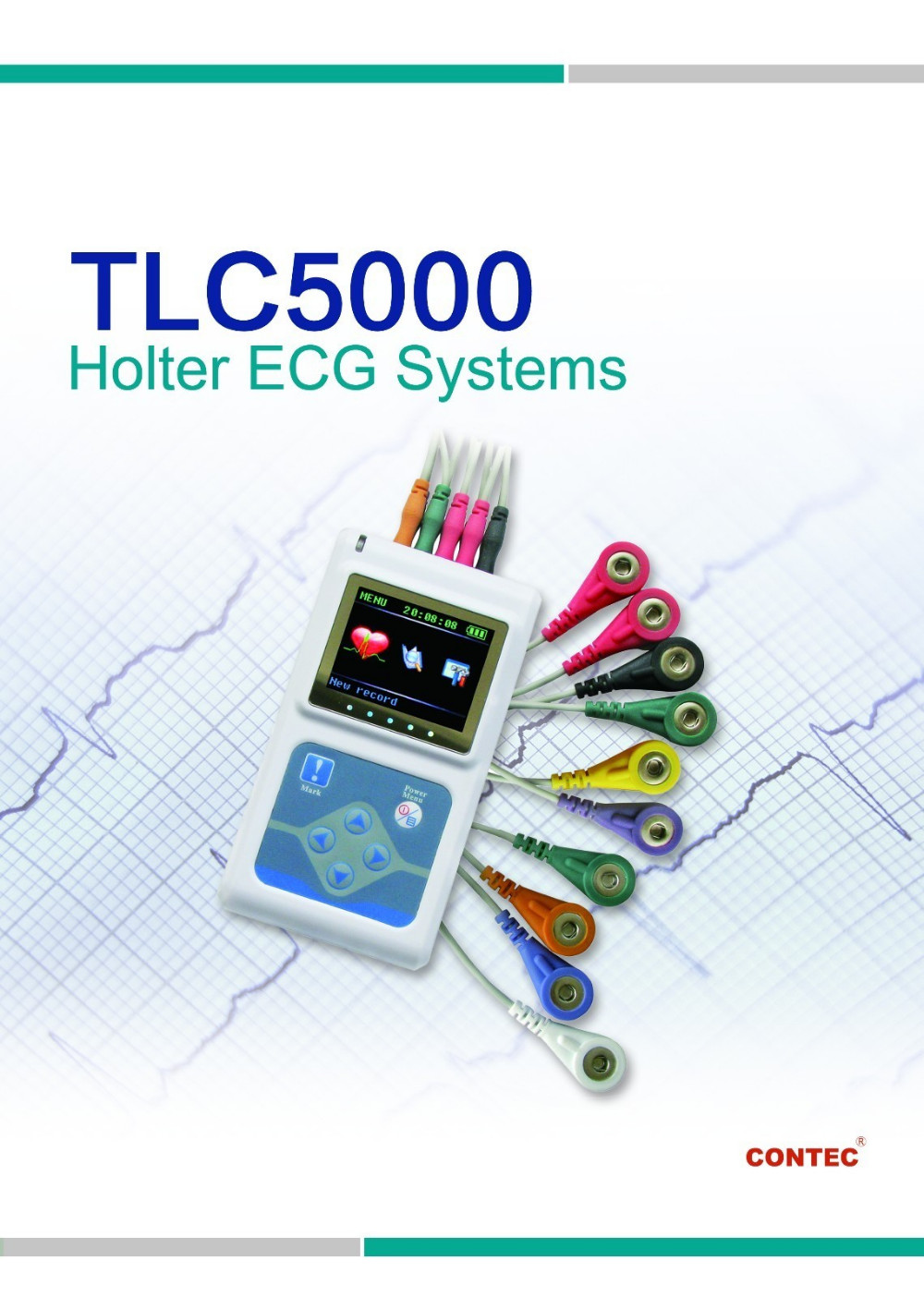 CE FDA 2017 TLC5000 holter CONTEC EMS FREE SHIPPING 12 Channels цена