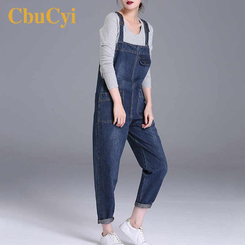 Плюс размер M-6XL Женские джинсы Комбинезоны Свободные повседневные широкие ноги женский джинсовый комбинезон для женщин Комбинезоны 200 фунтов комбинезон выше размера d