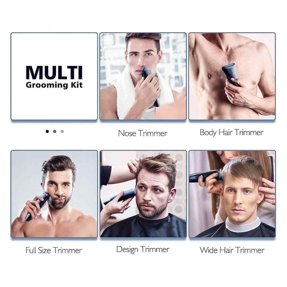 Беспроводной мужской триммер для бороды, машинка для стрижки волос, электрическая машинка для стрижки грумера, триммер для тела, триммер для мужчин, перезаряжаемая подстрижка усов