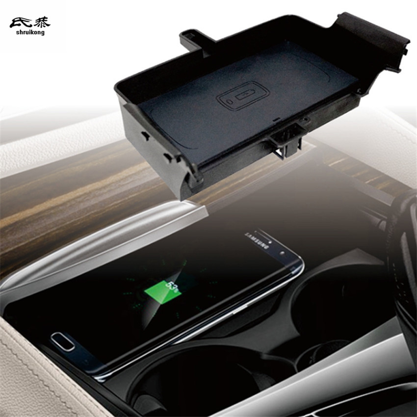 Voiture Mobile téléphone QI sans fil de charge Pad Module De Voiture Accessoires Pour BMW G30 G38 530i 530d 520i 540i 2018 2019