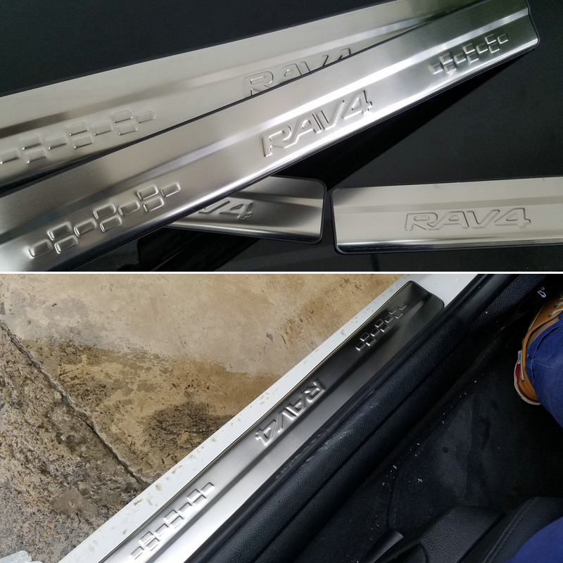 Free Shipping Stainless Steel Scuff plate Door Sill Car styling Car font b Accessories b font