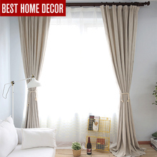 Modern cloth blackout curtains for living room bedroom curtains for window drapes shading blackout window curtains 1 panel