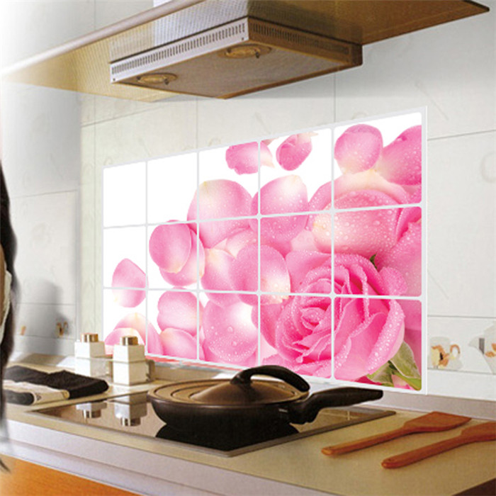 Purple Tulip Flowers Kitchen Vinyl Wall Stickers Home: Popular Pink Bathroom Decor-Buy Cheap Pink Bathroom Decor