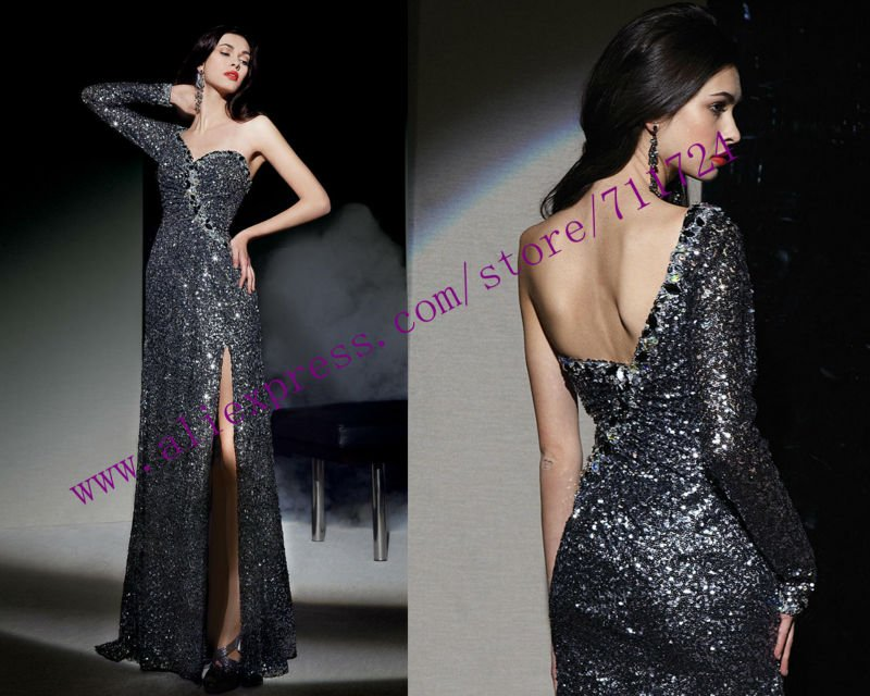 Sophisticated Hollywood Inspired One Sleeve Sequined Beaded Prom Dress In Dresses From Weddings Events On Aliexpress Alibaba Group
