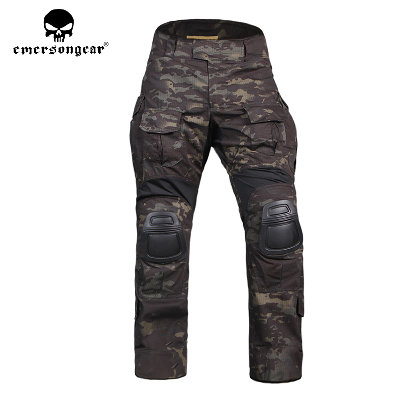 Emerson G3 Tactical Pants with Knee Pad Airsoft Paintball Combat BDU Trousers Camouflage Multicam Hunting Military
