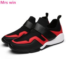 Spring New Men Running Shoes Feet Shoes Light Breathable Elastic Sport Shoes Comfortable Outdoor Camping Sneakers zapatos
