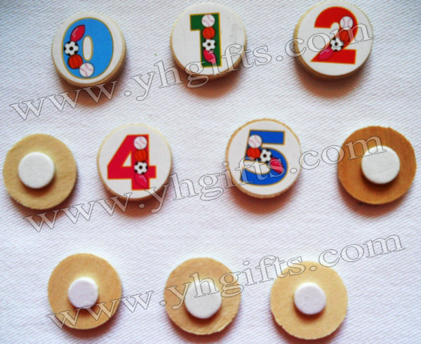 500PCS/LOT.Wood numbers stickers,2cm.Kids toys,scrapbooking kit,Early educational DIY.Kindergarten crafts.Classic toys