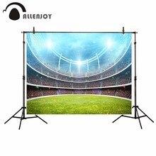 Allenjoy fotografia vinil backdrop Holofotes foco jogo espectadores de futebol projeto para photo studio fundo recém-nascidos originais