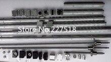 6 компл. линейный рельс SBR16 L300/1500/1500 мм + SFU1605-350/1550/1550/1550 мм ШВП + 4 BK12/BF12 + 4 DSG16H гайка + 4 муфта для ЧПУ