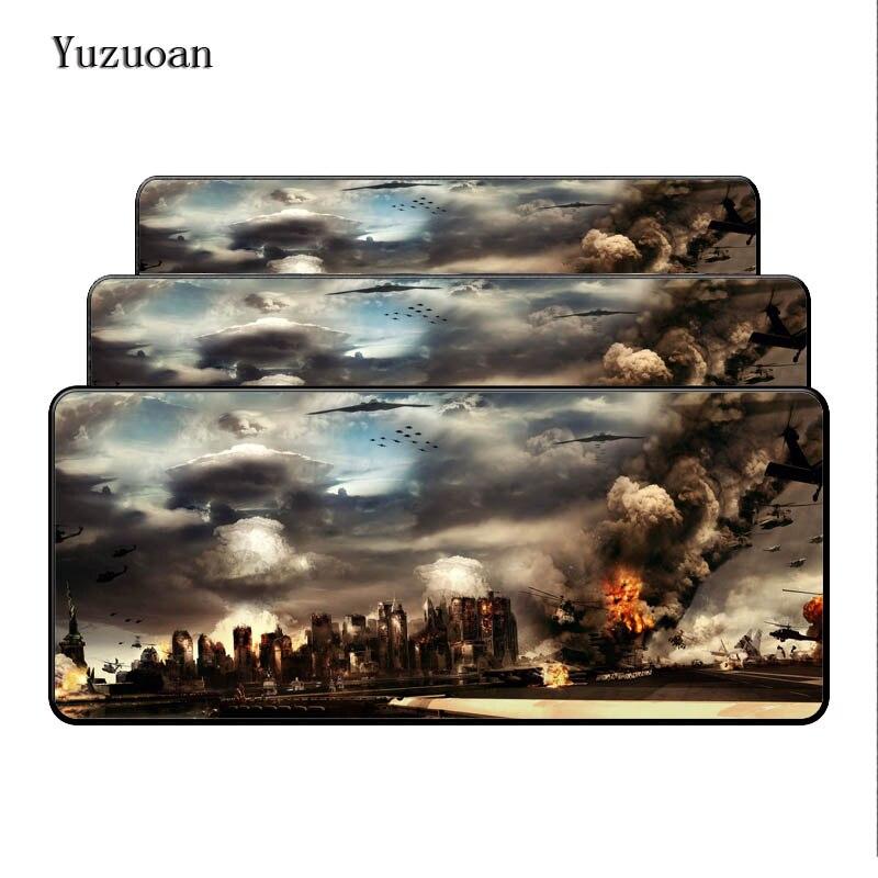 Yuzuoan Бесплатная доставка World of Tanks 900*400*3 Notbook компьютера большой Мышь pad игровой ноутбук Настольный коврик оверлок подарок Мышь Pad ...