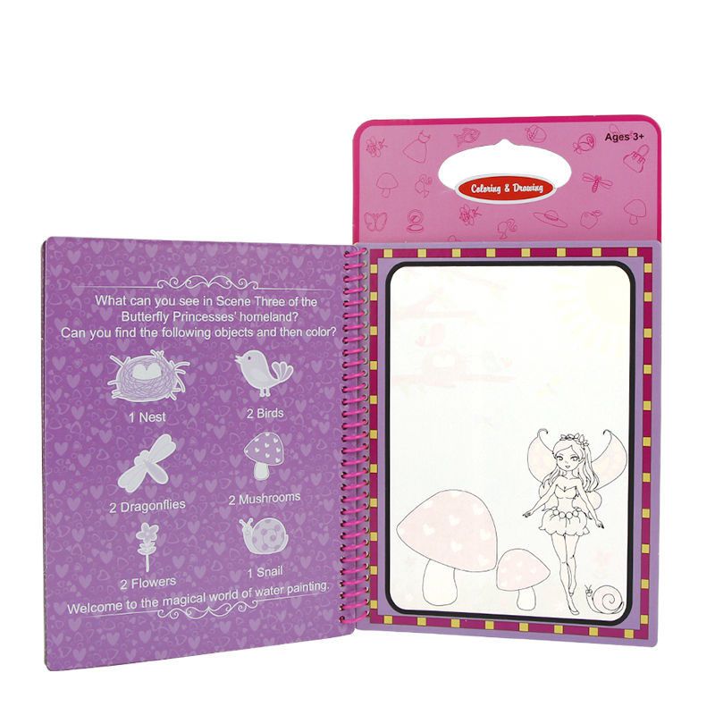 Magic Colorful Book Kid Water Drawing Board Toys with Wonderful Childrens Education Gift Pen Intimate Coloring Painting Boards