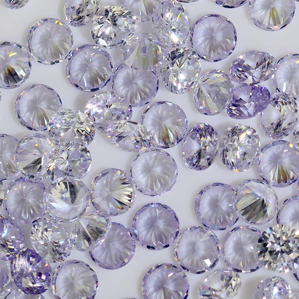 100pcs 1mm-4mm 5A Round Beads Cut CZ Stone Brilliant Light Purple Color Cubic Zirconia Synthetic Gems stone