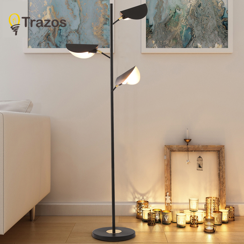 American Style modern iron painted floor Lamps adjustable E27 LED 220V novelty lights for living room study bedside office