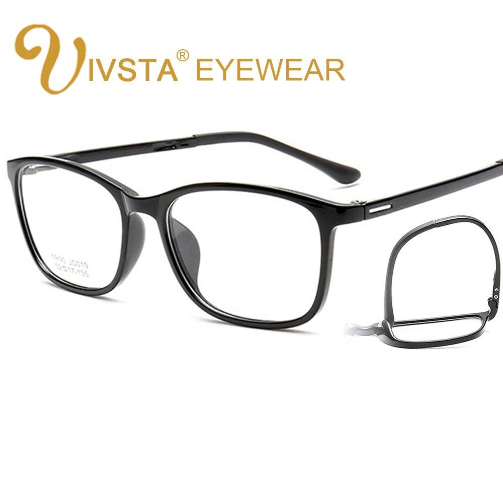 IVSTA Busana Pria Wanita Persegi Optical Resep Kacamata TR90 Kacamata  Bingkai Pria Miopia Membaca Cahaya Ultra 4aff893745