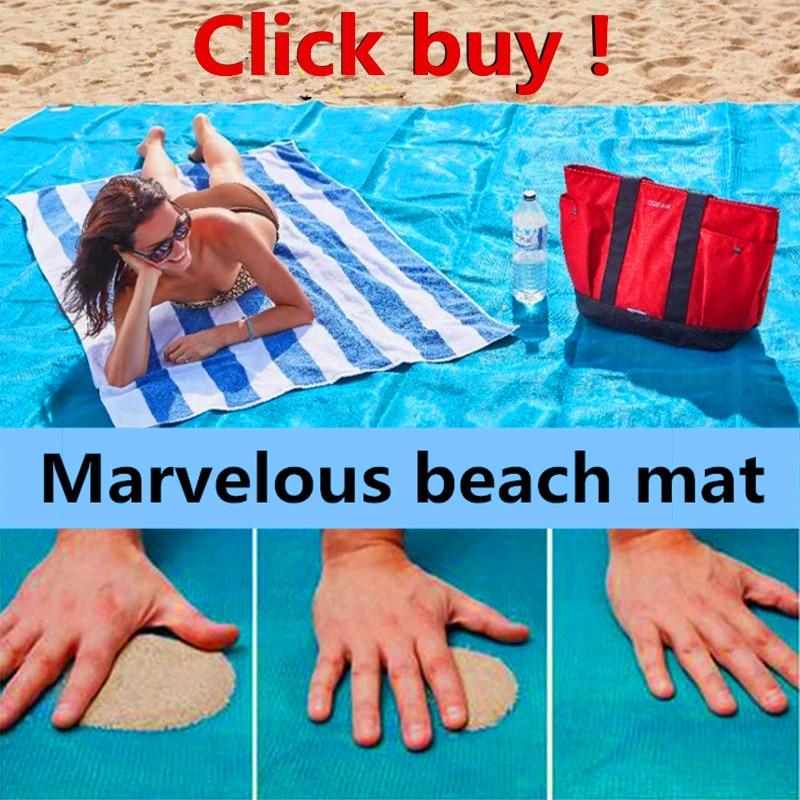 Brand sand-free Camping pad beach mat blue/green/red 200*150cm/200*200cm sand free beach mats new Sandbeach mat camping