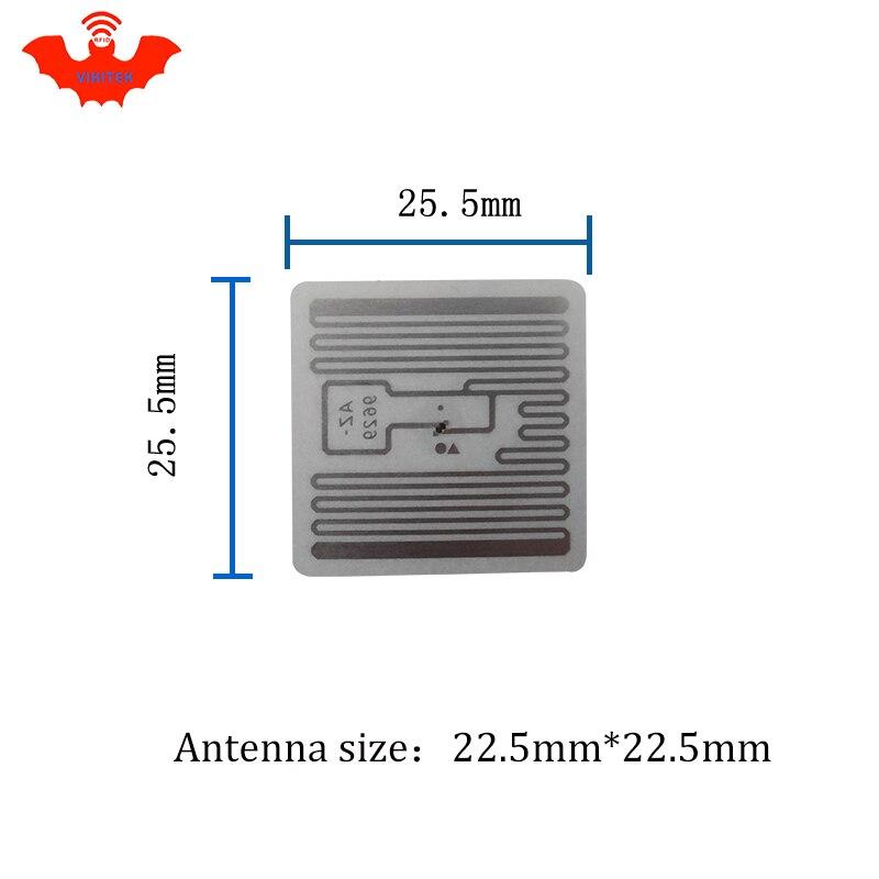 Image 5 - RFID tag UHF sticker Alien 9629 wet inlay 915mhz868mhz 860 960MHZ Higgs3 EPC 6C 50pcs free shipping adhesive passive RFID labelpassive rfid labelsrfid labeluhf sticker -