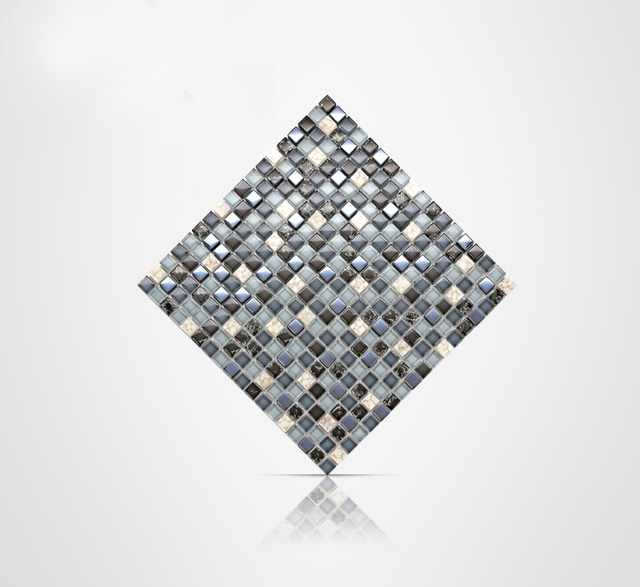 mosaic wall glass tiles gray agate green black europe white wall tile inner crackle design for