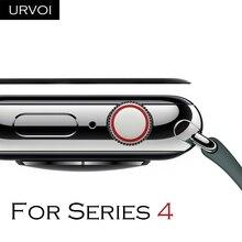 URVOI изогнутая полная пленка для apple watch series 5 4 3 2 1 закаленное стекло 3D Защита экрана для iWatch крышка линзы ремешок 40 44 мм