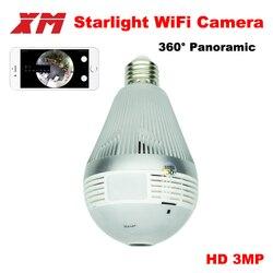 Panoramin Smart Home Safty Wifi 360 3.0MP kamer vr LED żarówka kamera bezpieczeństwa wykrywanie ruchu CCTV wsparcie PC tablet/telefon w Kamery nadzoru od Bezpieczeństwo i ochrona na