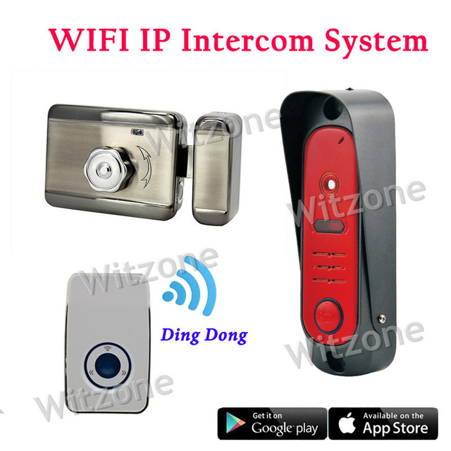 Smart Home Entry System WiFi Video Intercom System Night Vision and Motion Detection Alarm,Monitoring/Unlocking/Two Way Intercom