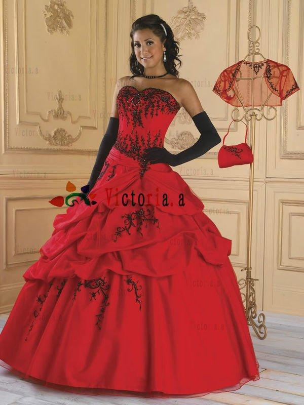 455d3ba2a9 quinceanera dresses black and red – Little Black Dress