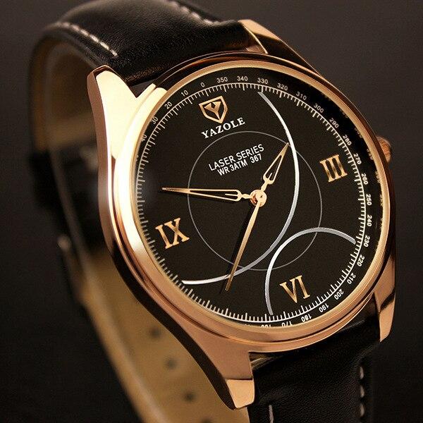 Yazole Brand Men Watches 2016 Top Brand Luxury Famous Male Clock Quartz Watch Men Gold Wristwatch