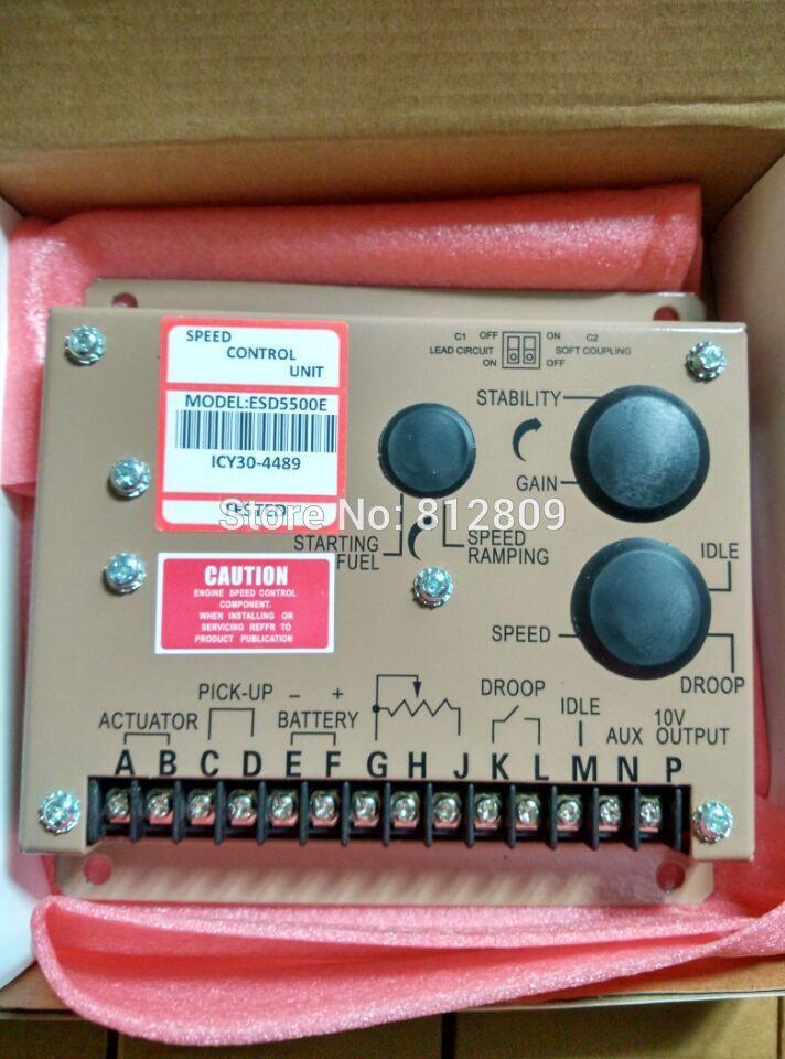 Регулятор скорости двигателя ESD5500E для дизельного генератора блок управления Лер с двойными конденсаторами некоторые части сделаны в Германии