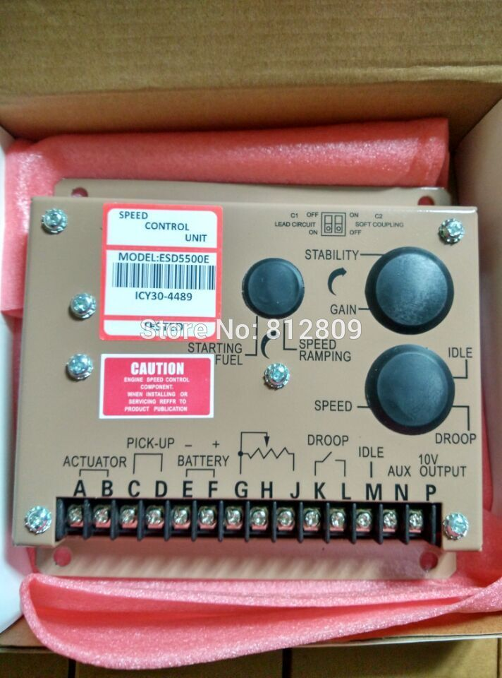 Generator Speed Controller ESD5500E+fast shipping (some parts Made in Germany) fast shipping 6 5kw 220v 50hz single phase rotor stator gasoline generator diesel generator suit for any chinese brand
