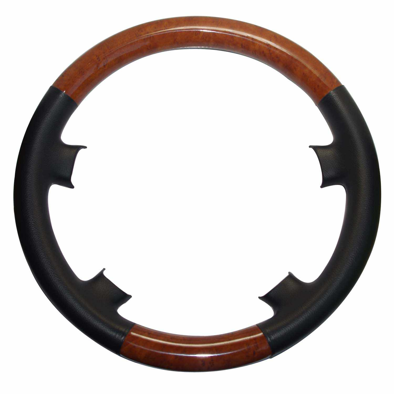 Detail Feedback Questions about Gray Leather Wood Steering Wheel