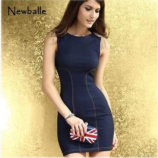 53ae8584af Women denim overall dress one piece denim dress novelty dress Stylish  Skintight Denim brief mini sweet Dress Light Blue NB-031