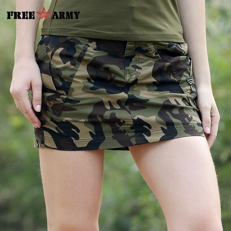 Камуфляжная мини юбках