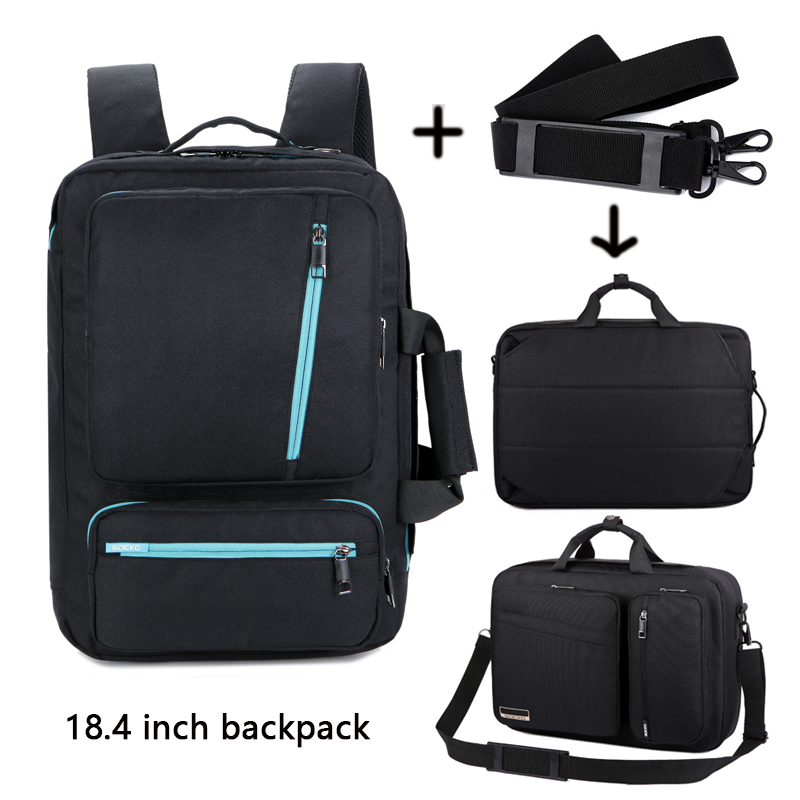 Laptop Backpack 18 18.4 Inch Multifunction Briefcase/shoulder bag/handbag school Bag For Macbook Pro man women
