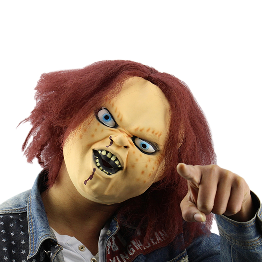Horror Latex Mask for Child Play Chucky Action Figures Masquerade ...