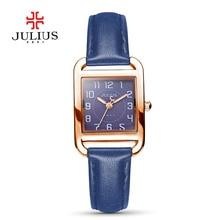 Fashionn JULIUS Mujeres Del Reloj de Pulsera Marca de Lujo Ladies Relojes de Cuarzo Relogio Feminino Mujer Reloj Mejor Regalo de Cuero Genuino