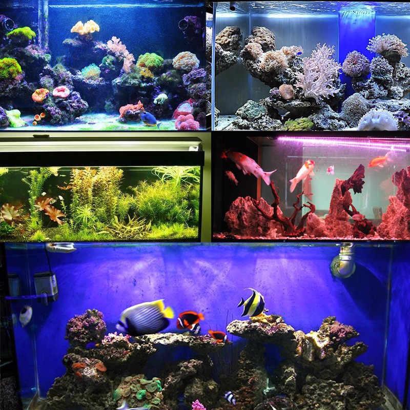 LED Light Bulb Tabung Tahan Air RGB 20/28/38/48/58 cm Tinggi Lumen Akuarium Ikan Tank Lampu Pencahayaan 1/1. 5/2/2.5/3 W 220 V US EU Plug