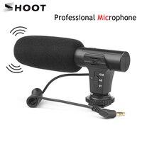 SHOOT стерео камера-регистратор с микрофоном для Nikon Canon DSLR камера компьютер мобильный телефон микрофон для компьютера для Xiaomi 8 iphone X samsung