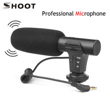 SHOOT Stereo Camcorder Microphone for Nikon Canon DSLR Camera Computer Mobile Phone PC Microphone for Xiaomi 8 iphone X Samsung(China)