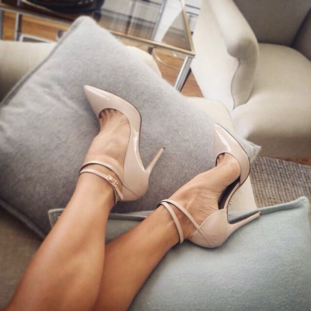 0491ff8126 newest sexy pointed toe high heels ankle strap stiletto heels nude patent  leather woman pumps club